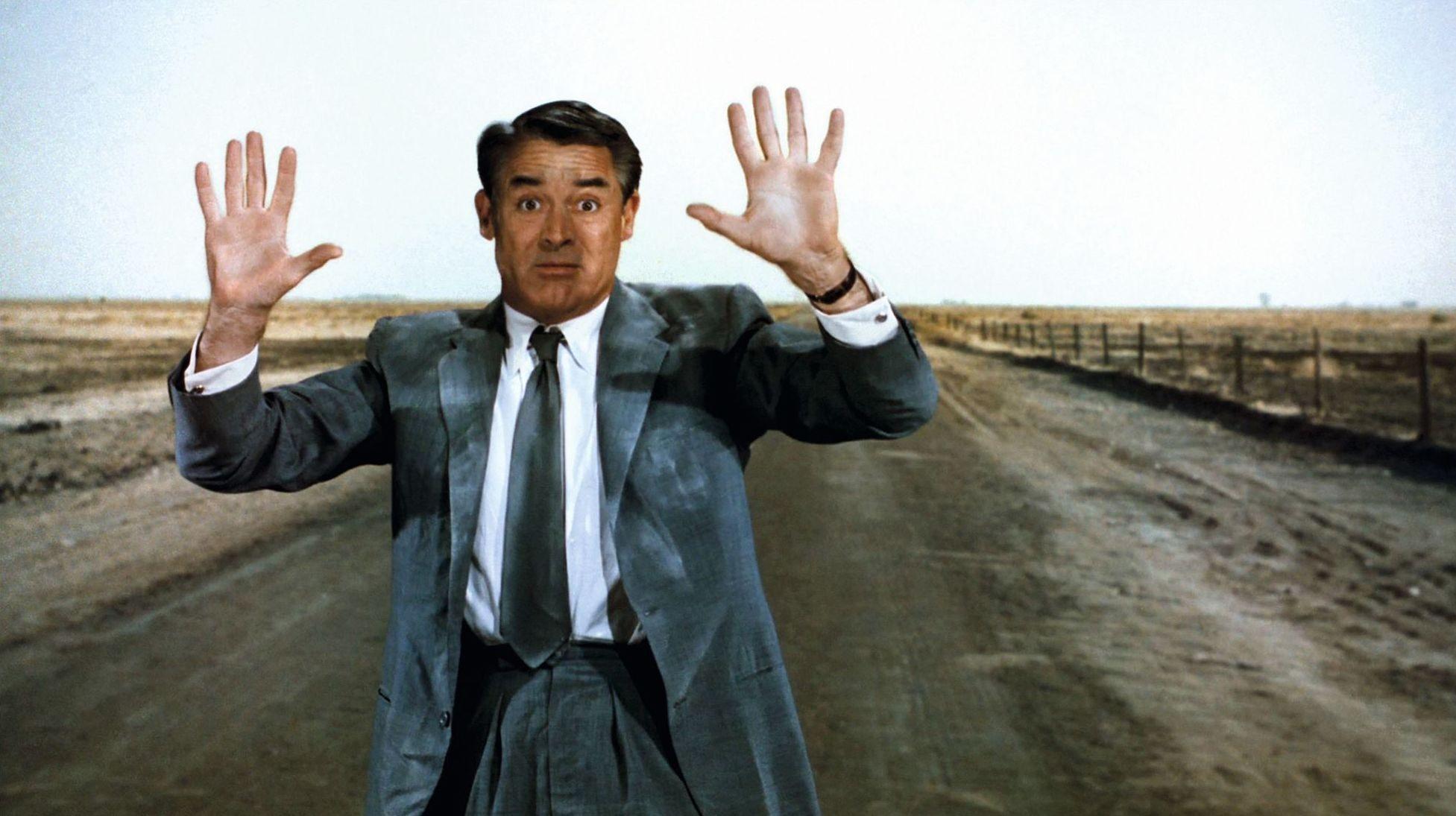 La Mort aux trousses, réalisé par Alfred Hitchcock, 1959.