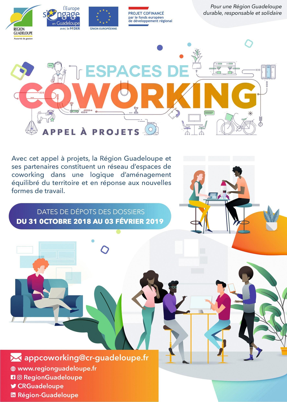 Affiche pour les espaces de coworking