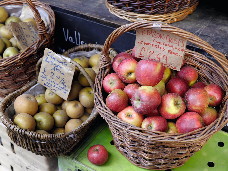 Pommes 'sans produits chimiques' (chemical free)