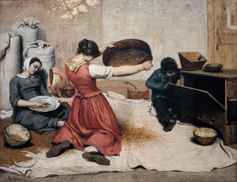 Gustave Courbet, Les Cribleuses de blé, 1854, huile sur toile.