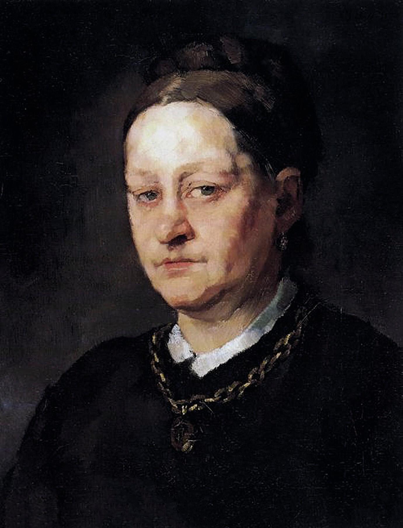 Heinrich Wilhelm Trübner Portrait d'Anna Trübner