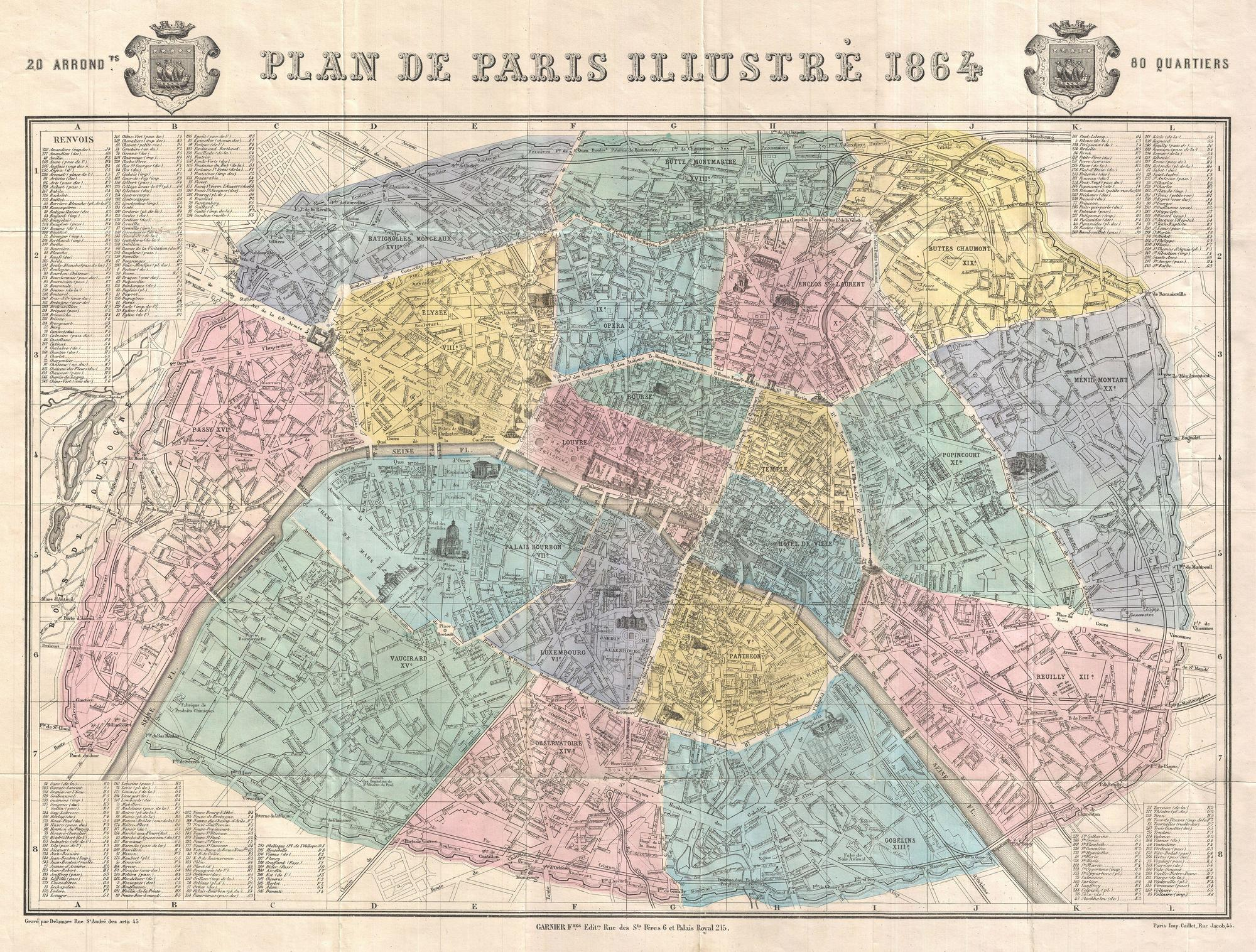 Plan de Paris, 1864