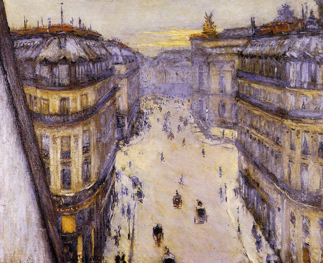 Gustave Caillebotte, Rue Halévy, vue d'un sixième étage, 1878, huile sur toile, 60 × 73 cm, coll. privée.