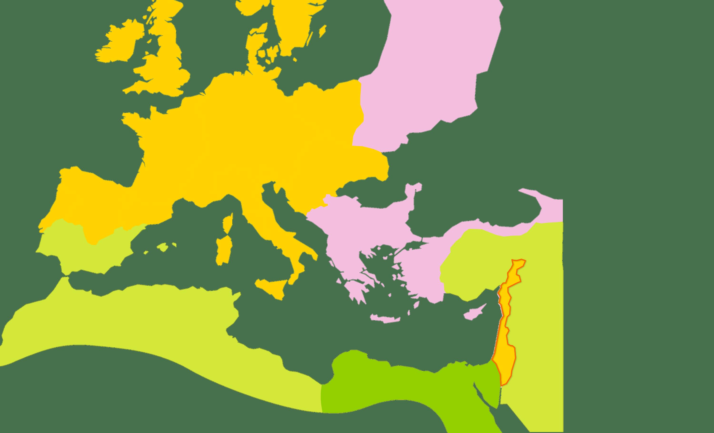 Le monde méditerranéen en 1146