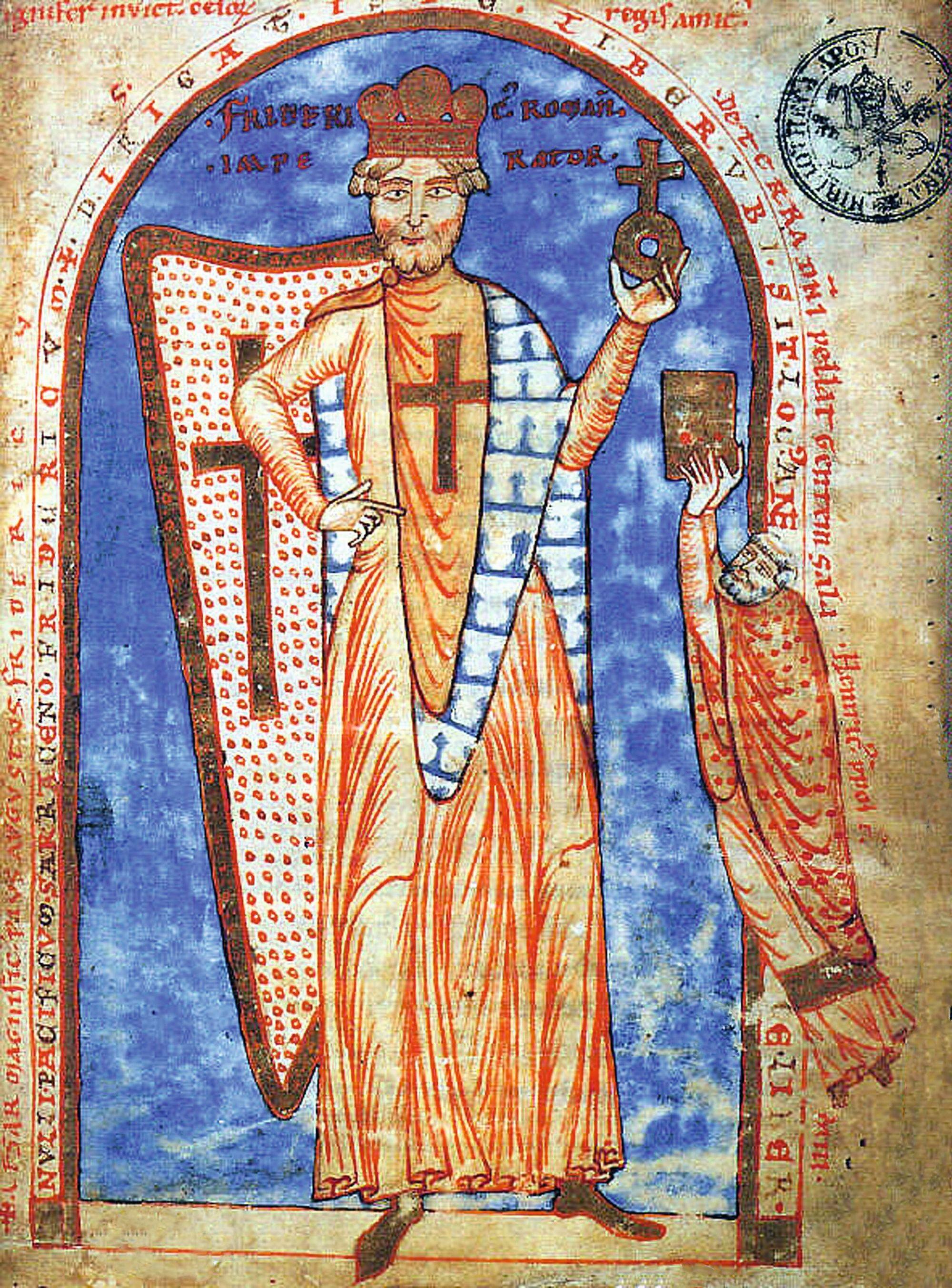 Miniature dans un manuscrit de Robert le Moine, Historia Hierosolymitana, 1188, bibliothèque du Vatican