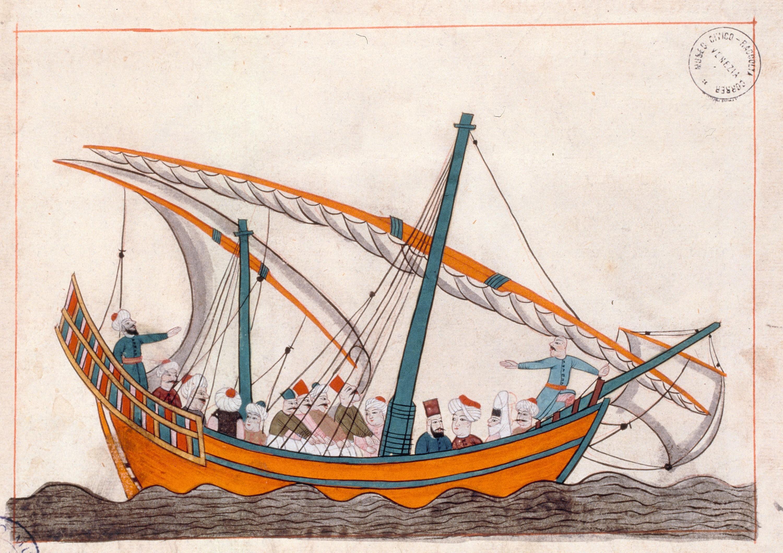 Navire turc, 1581, dessin