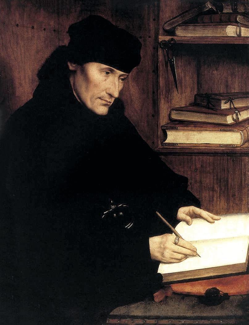 Quentin Metsys, Portrait d'Érasme, 1517