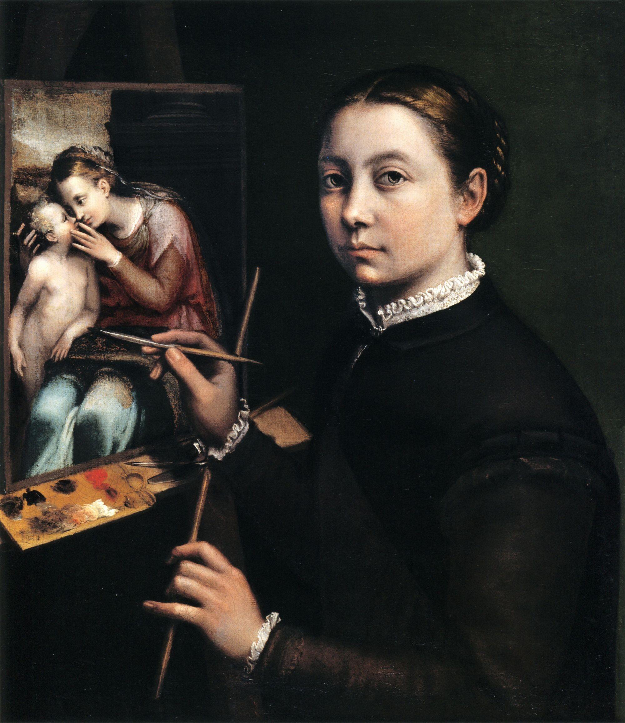 Sofonisba Anguissola, Autoportrait, 1556, huile sur toile, 66 x 57 cm, Muzeum-Zamek, Łańcut