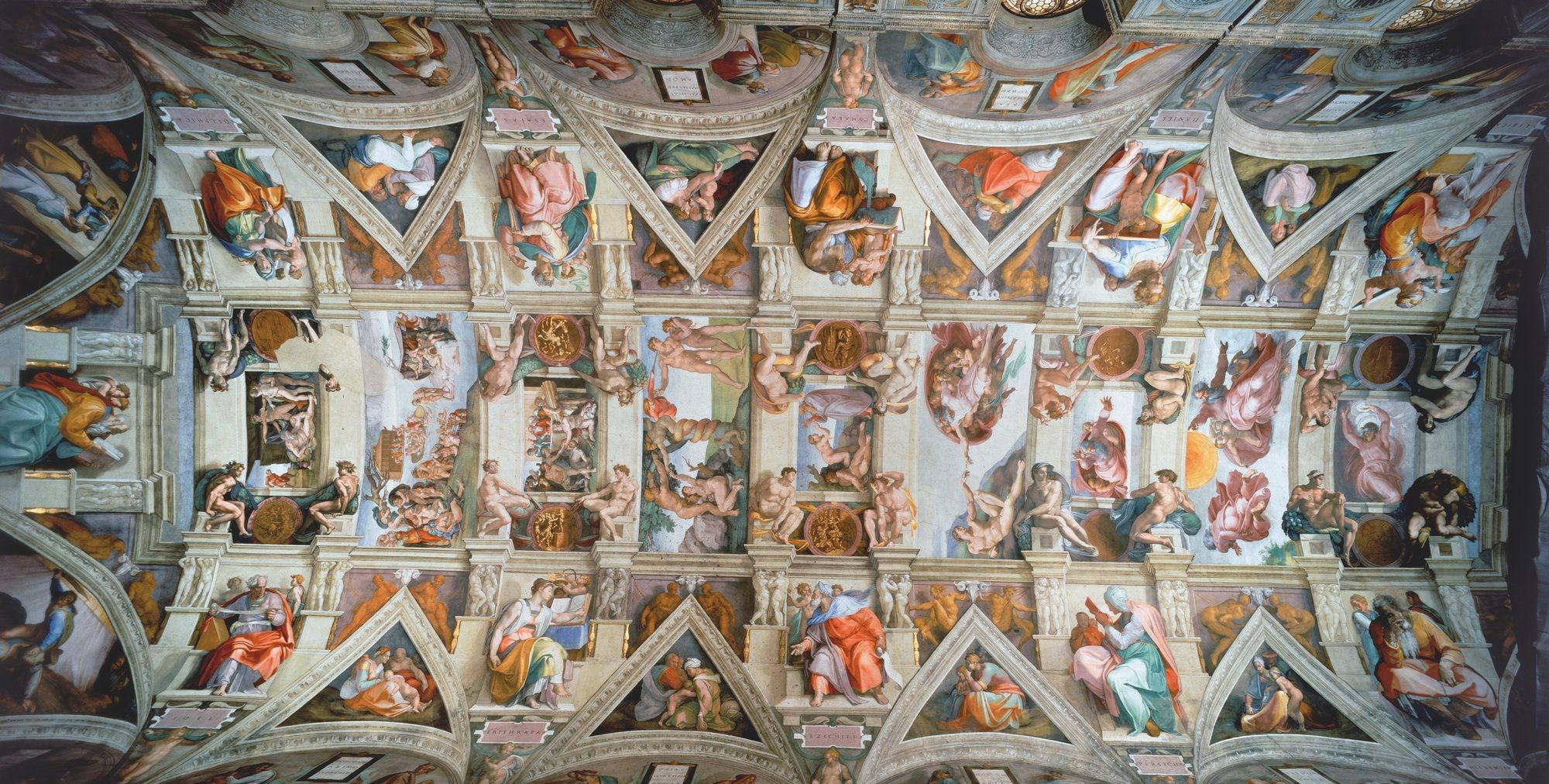 Le plafond de la chapelle Sixtine