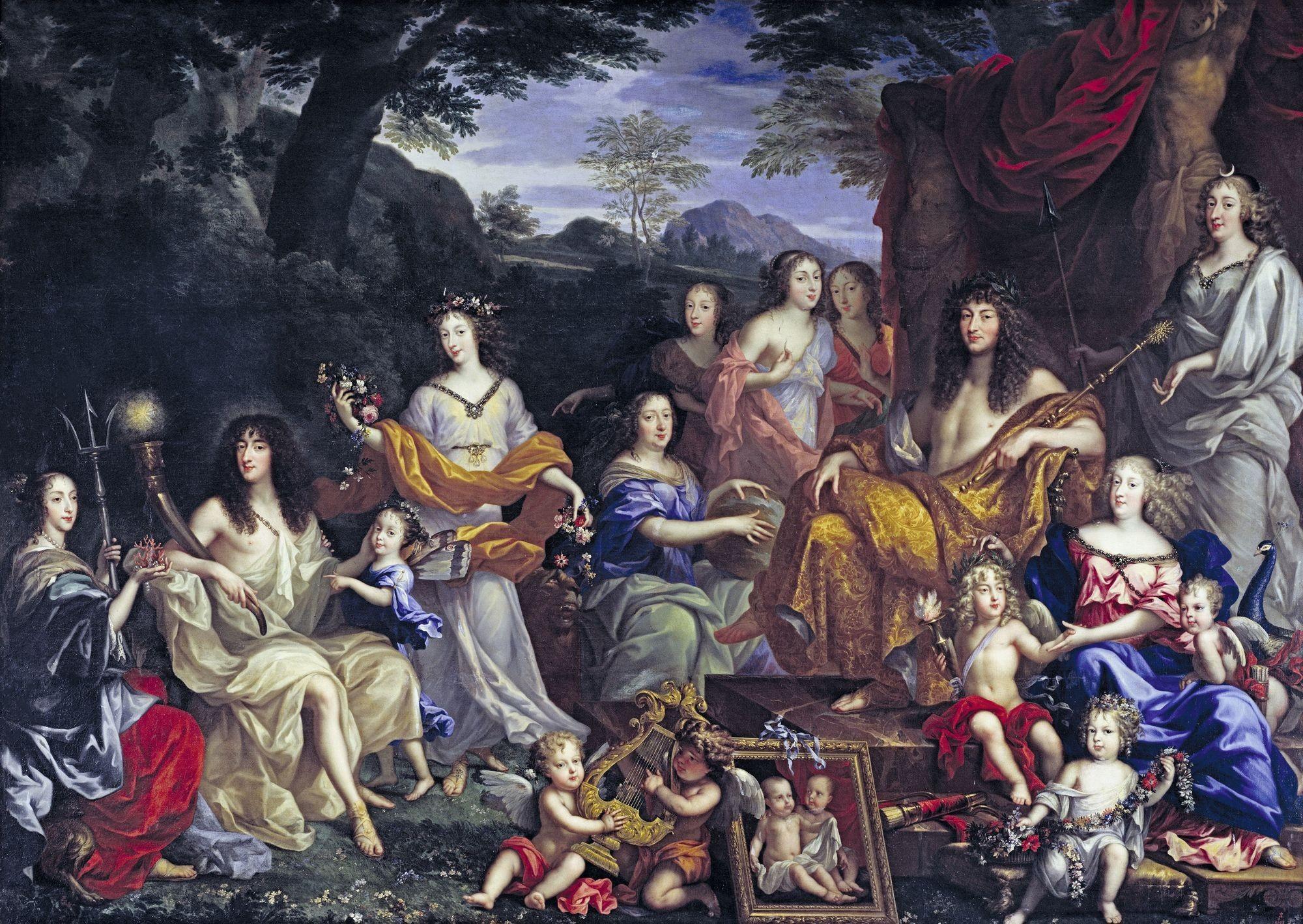 Jean Nocret, Louis‑XIV et la famille royale, 1670, huile sur toile, 305 x 420 cm, château de Versailles