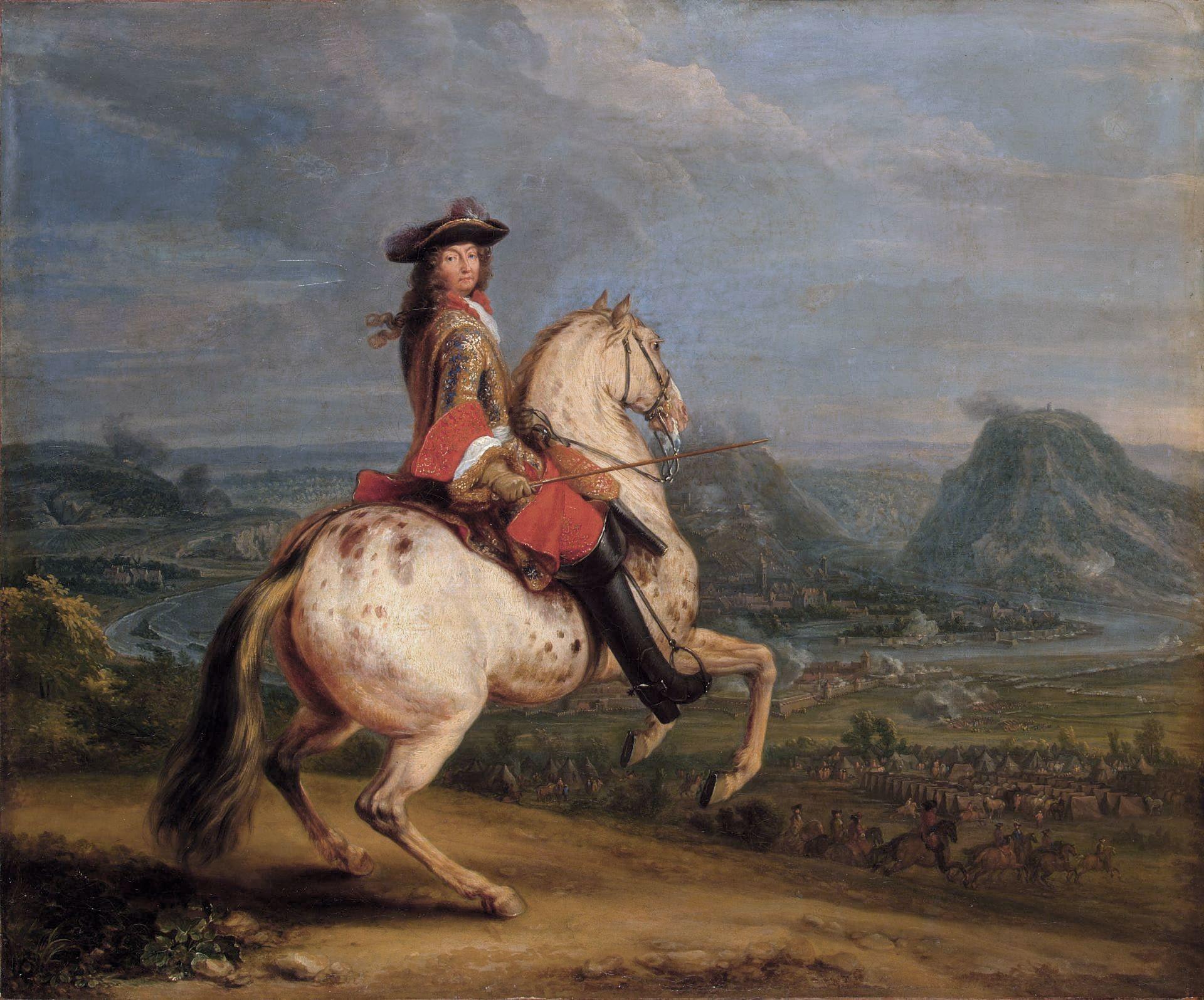 Adam Frans van der Meulen, Louis XIV au siège de Besançon, 1674, huile sur toile, 55 x 67 cm, musée de l'Ermitage, Saint-Pétersbourg