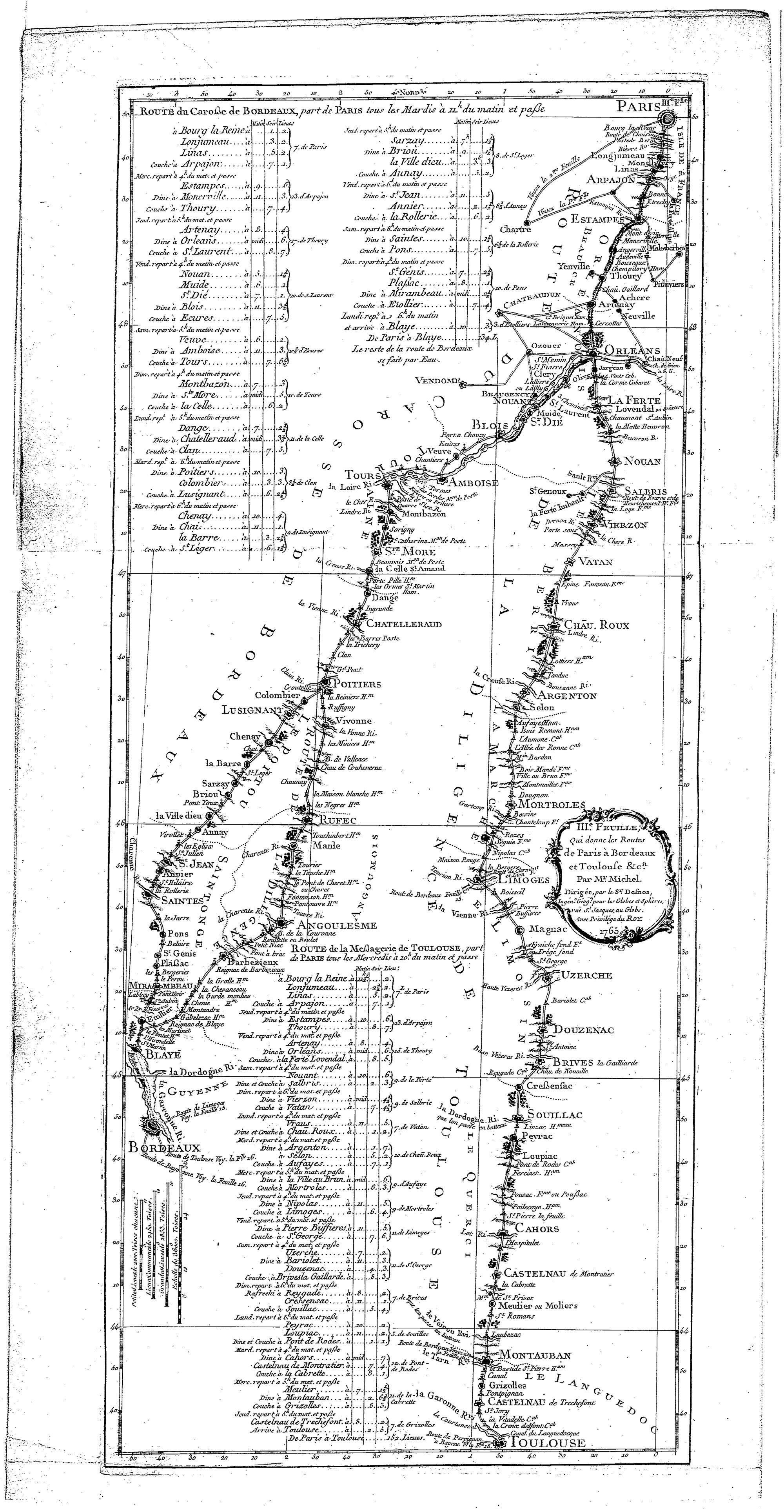 Claude-Sidoine Michel, L'Indicateur fidèle ou Guide des voyageurs, 1765