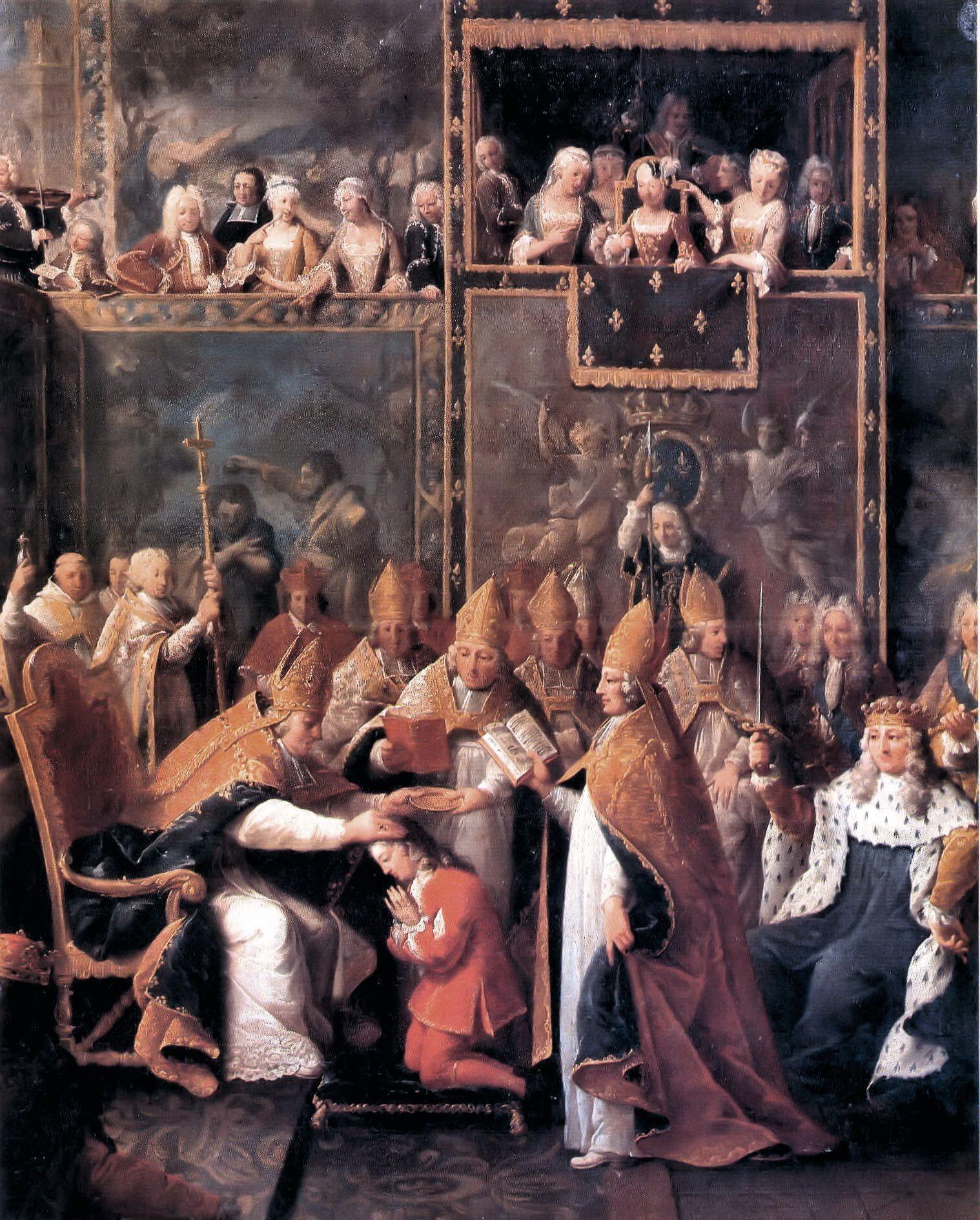 Pierre Subleyras, Sacre de Louis XV, 1722, huile sur toile, 255 x 206 cm, musée des Augustins, Toulouse