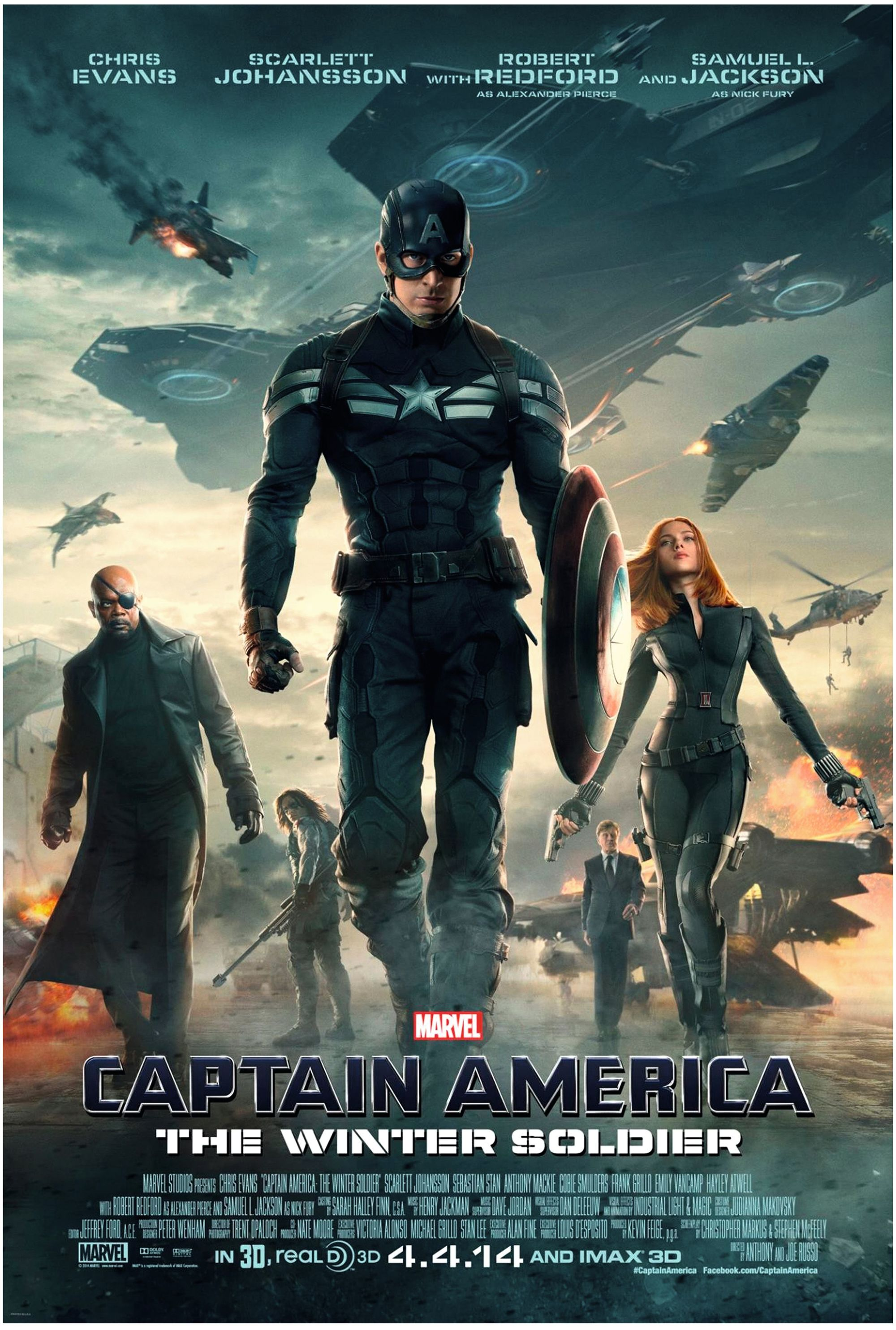 Captain America, The Winter Soldier, by Anthony and Joe Russo, 2014