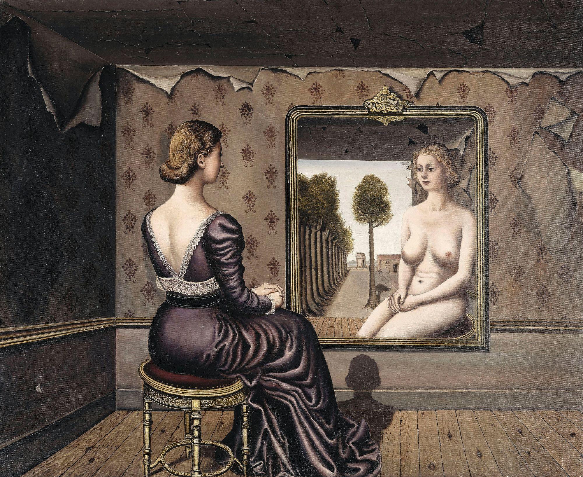 Paul Delvaux Le Miroir