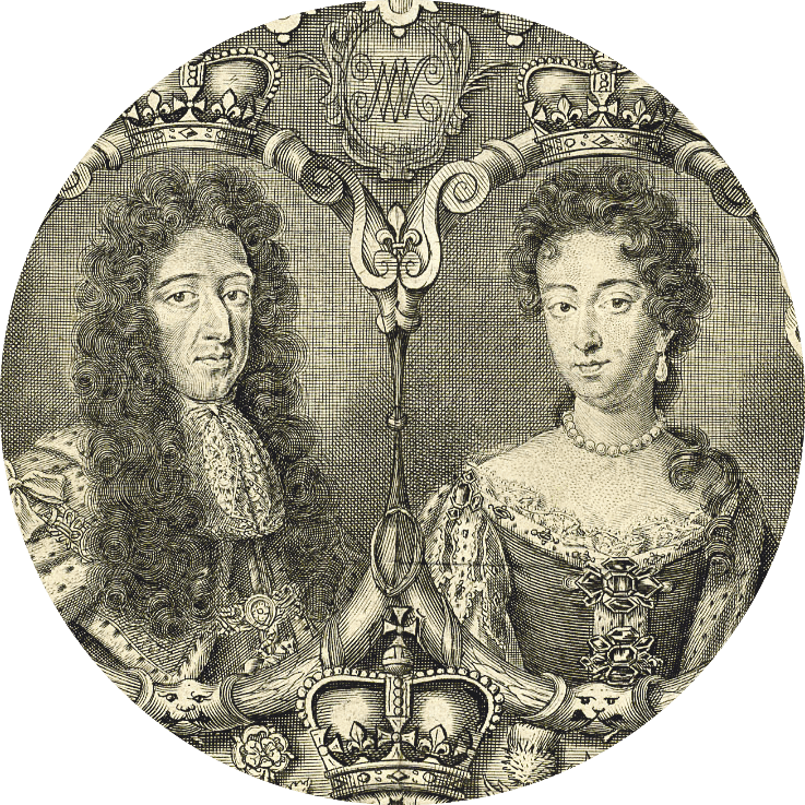 Guillaume III d'Orange (1650‑1702) et Marie II Stuart (1662‑1694)