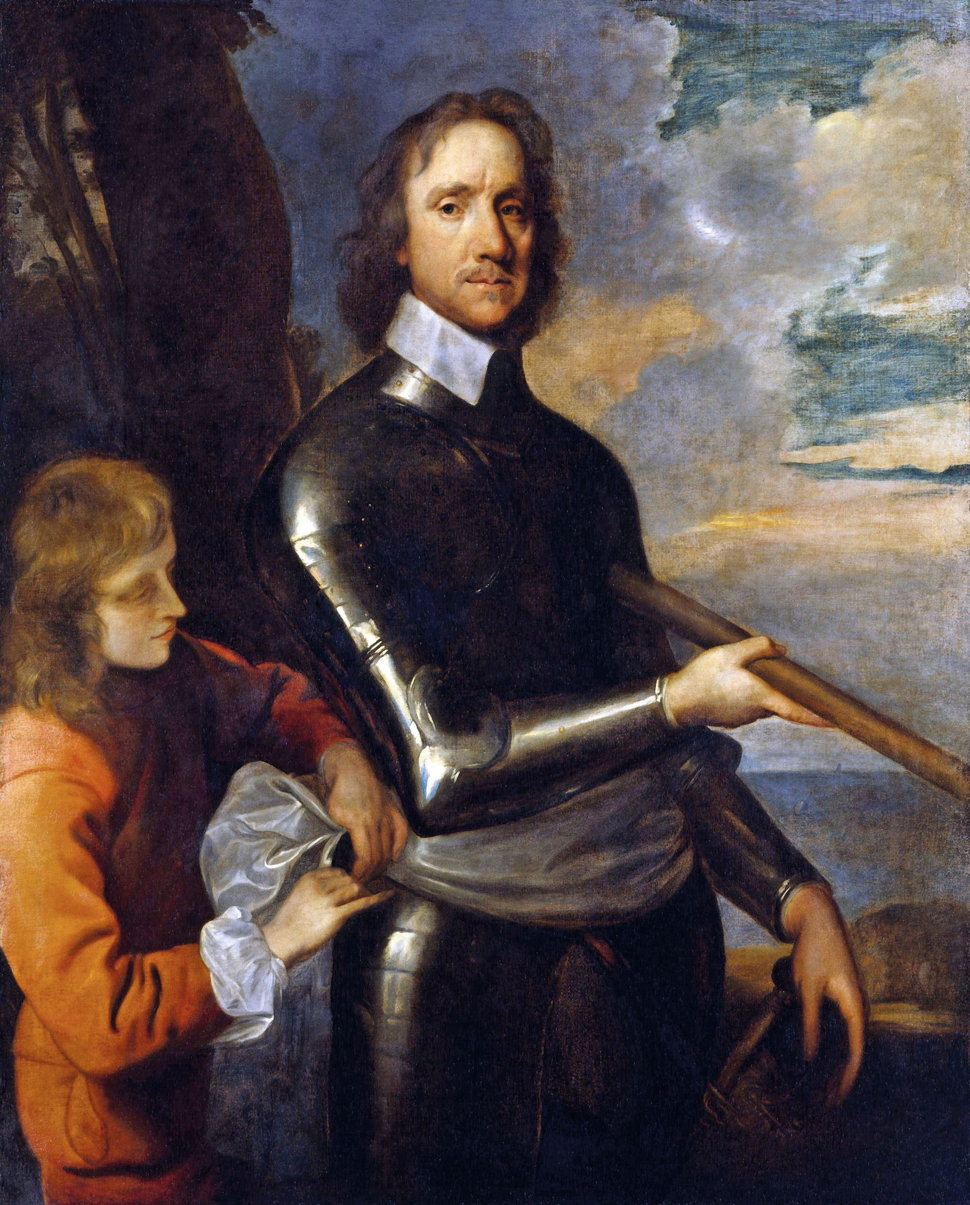 Robert Walker, Oliver Cromwell, v. 1649, huile sur toile, 128 x 103 cm, National Portrait Gallery, Londres
