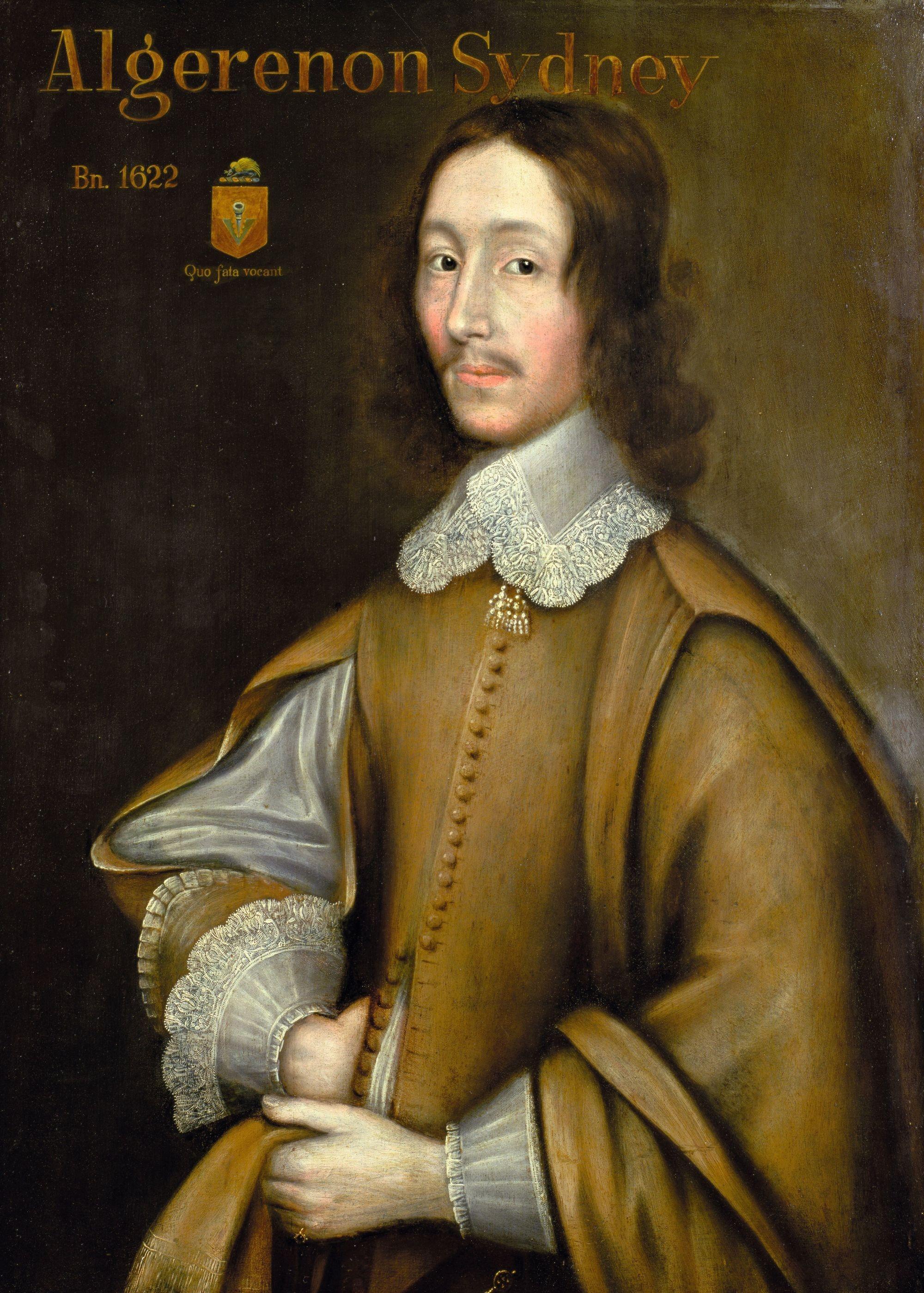 Anonyme, Portrait d'Algernon Sydney, v. 1665, huile sur toile, 79 x 71 cm, collection privée