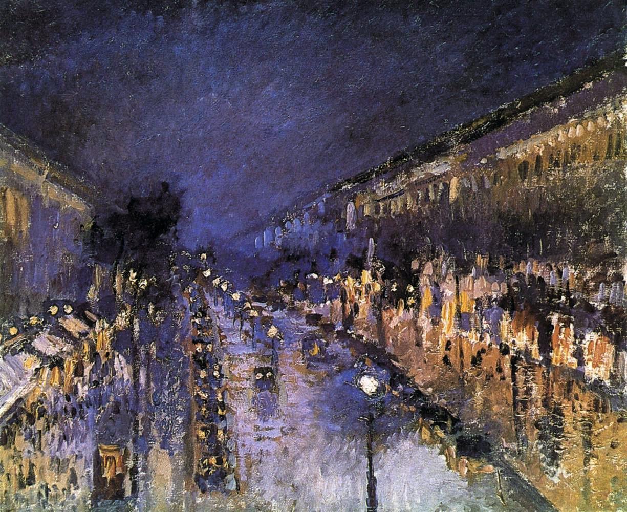 Camille Pissarro Boulevard Montmartre, effet de nuit