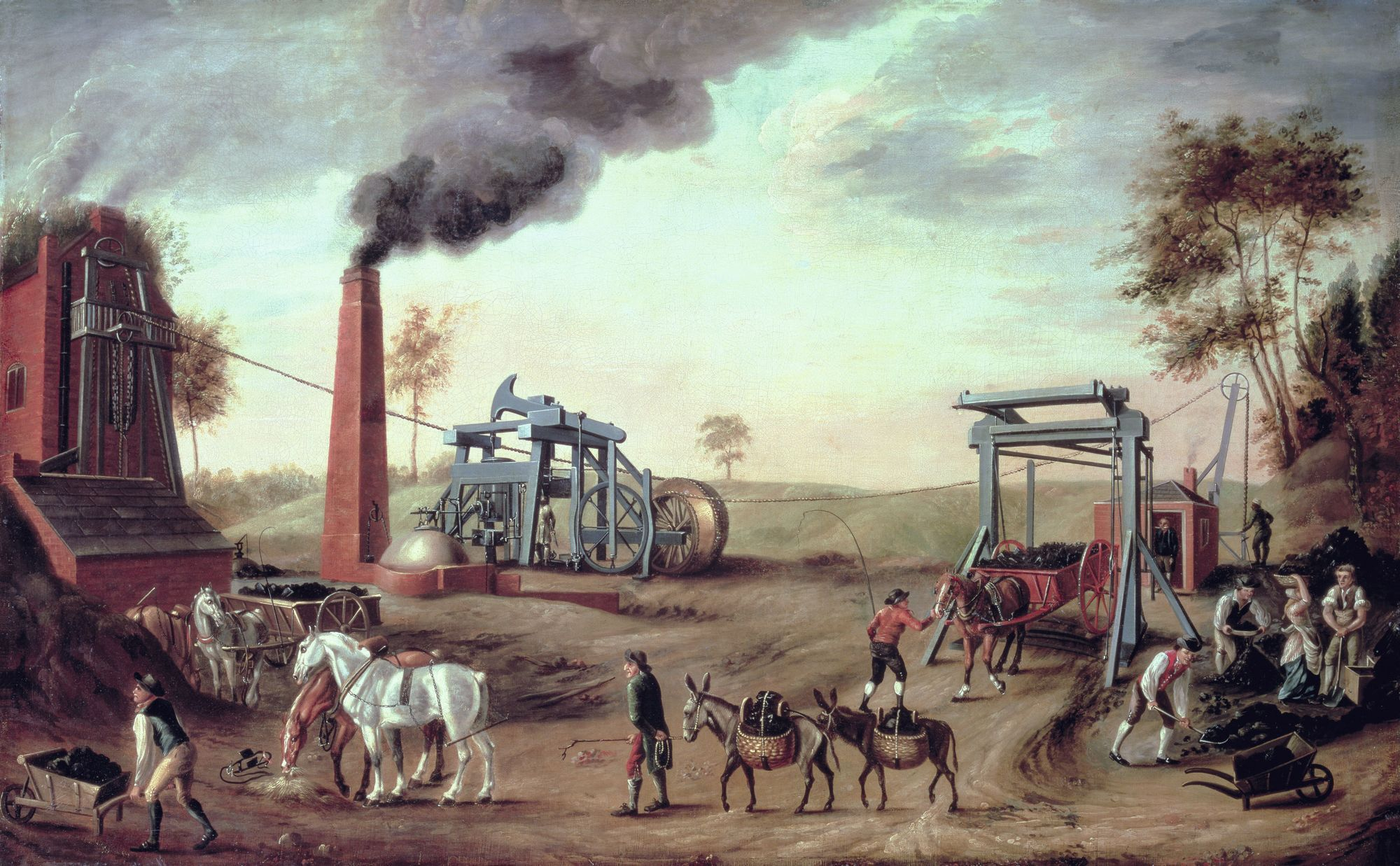 Anonyme, Peinture d'une mine, 1790, huile sur toile, Meyerside County Council et Walter Art Gallery, Liverpool.