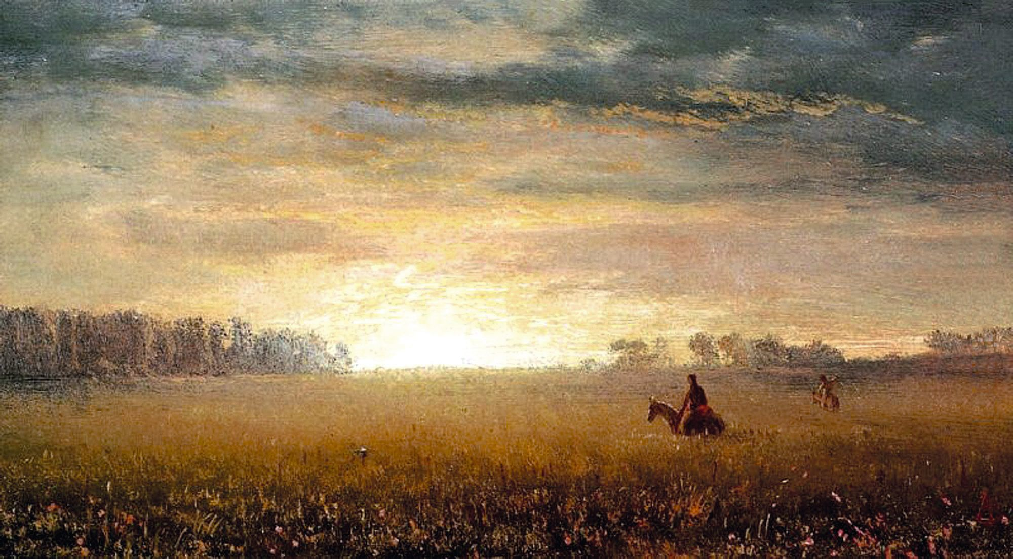 Sunset of the Prairie, Albert Bierstadt, 1863.