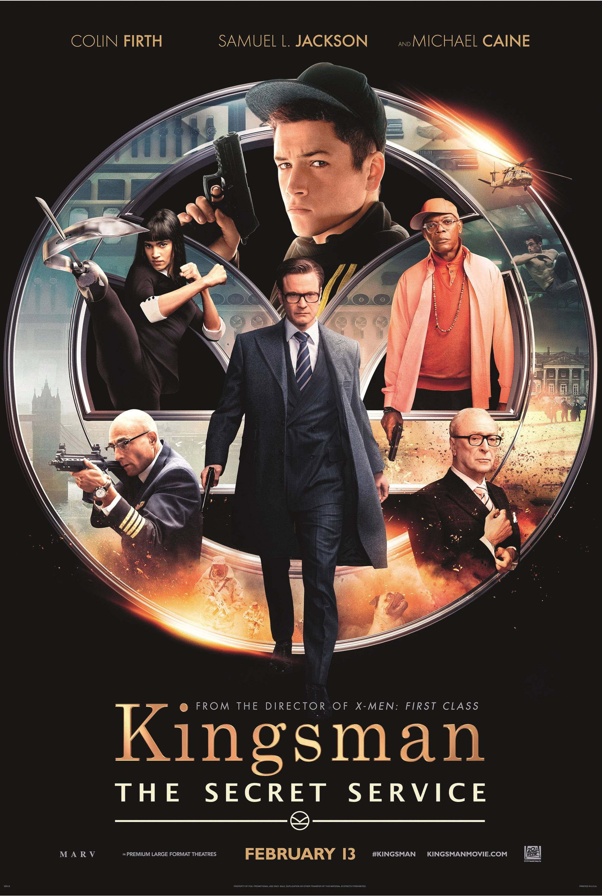 Kingsman: The Secret Service, by Matthew Vaughn, 2015.
