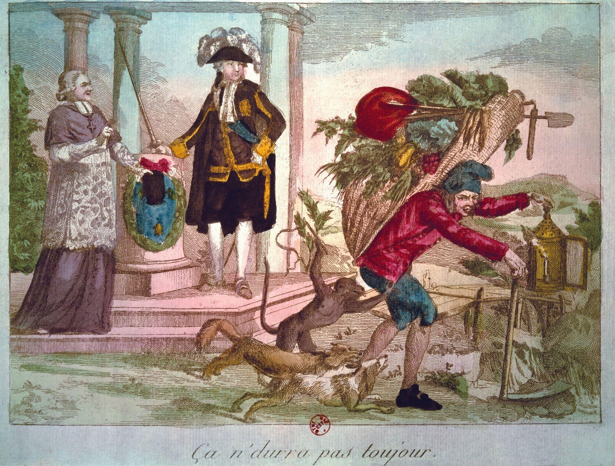 « Ca ne durera pas toujours ! », XVIIIe siècle, gravure