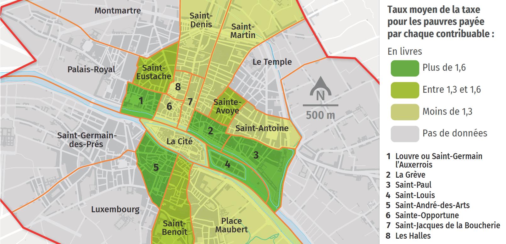 Quartiers riches et quartiers pauvres à Paris