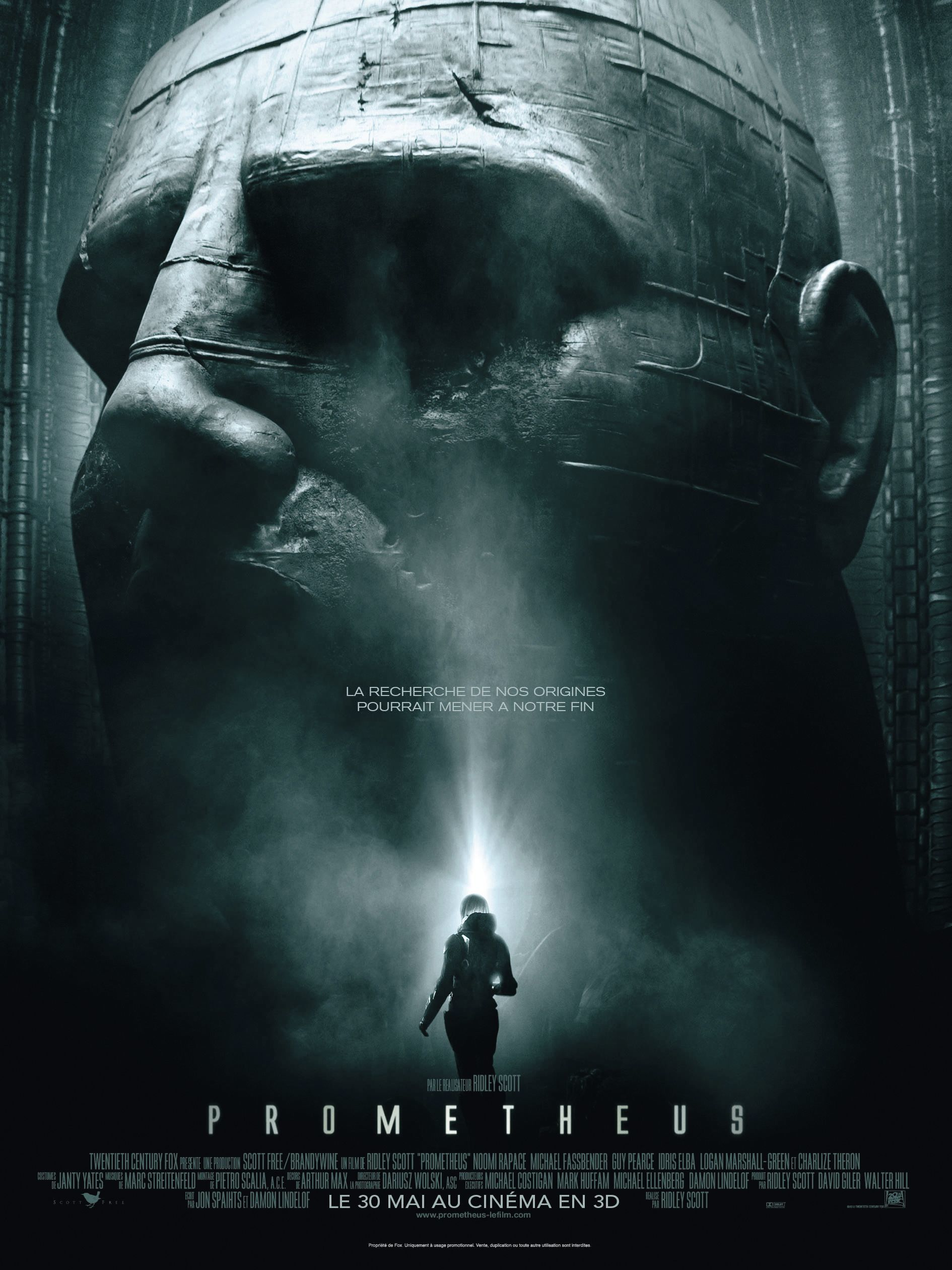 Prometheus, by Ridley Scott, 2012.