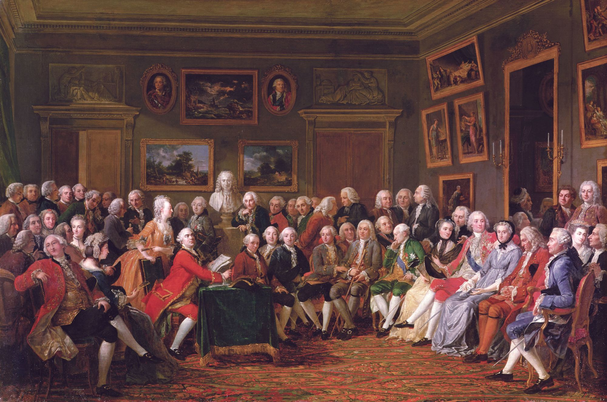 Une représentation du salon de Mme Geoffrin