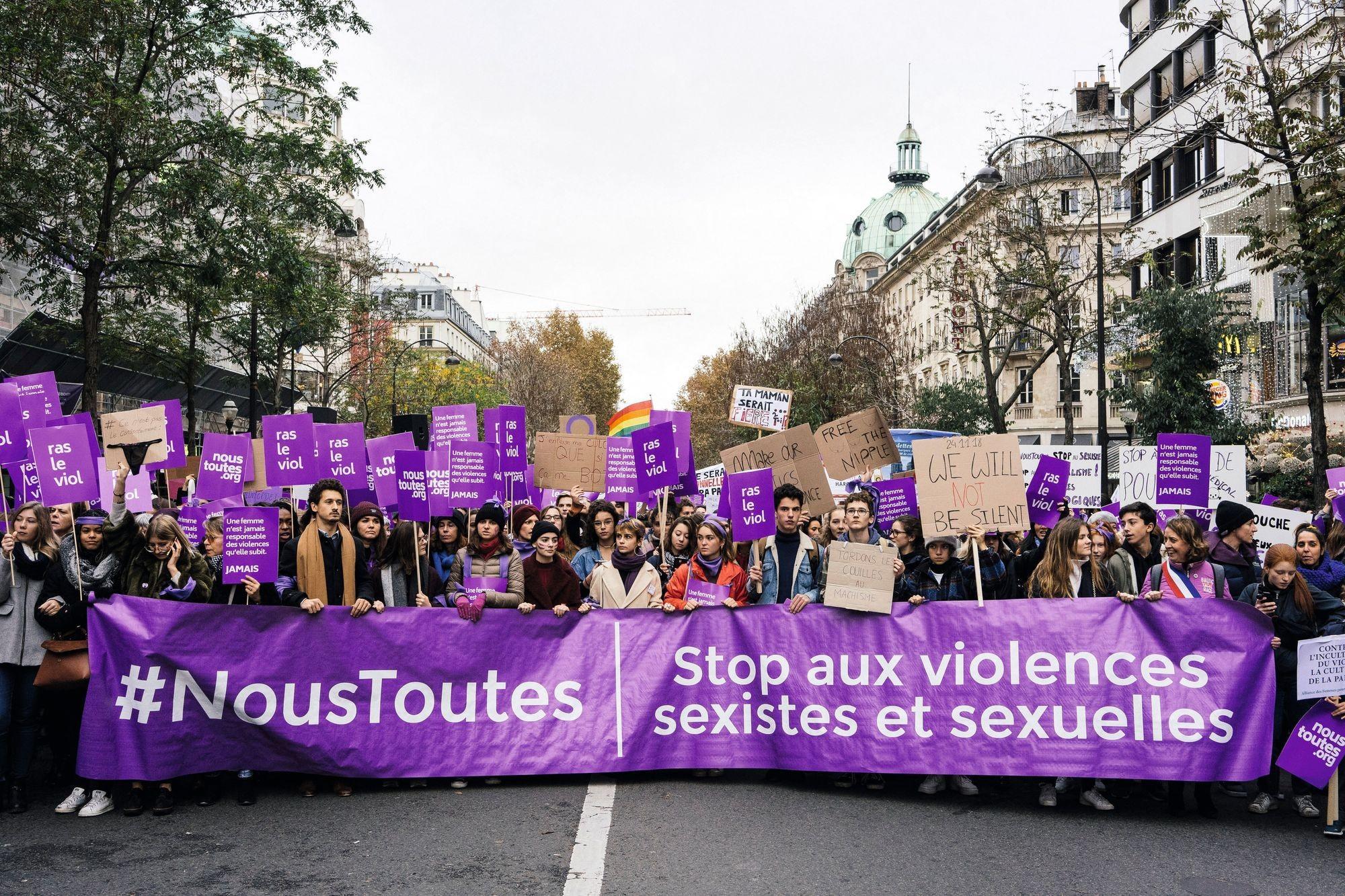 Manifestation contre les violences sexistes et sexuelles (Paris, novembre 2018)