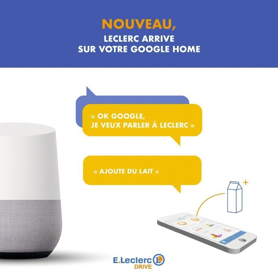 Publicité pour Leclerc et Google Home, 2018.