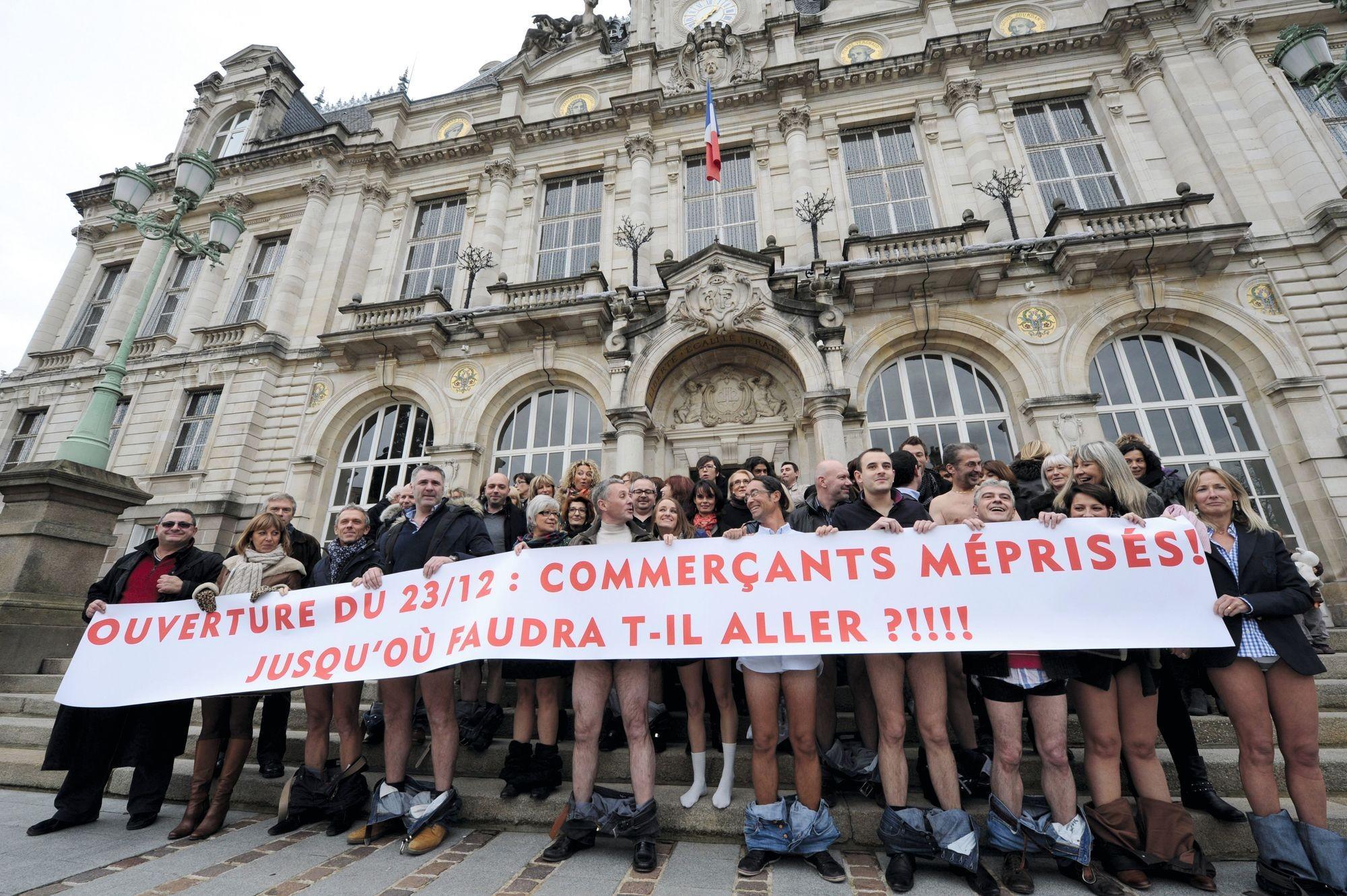 Un souhait des commerçants : manifestation à Limoges