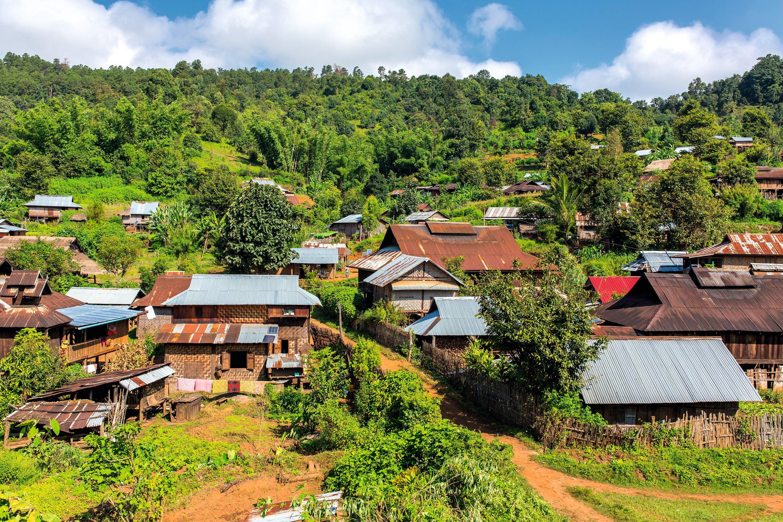 Un village rural, Laos