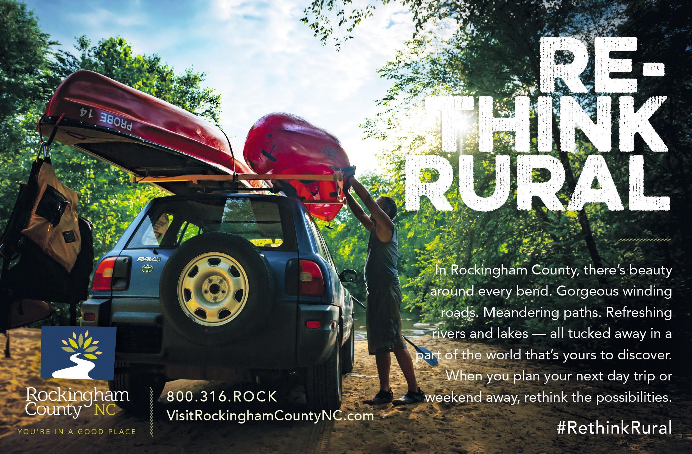 Campagne publicitaire de l'organisme local de tourisme Rockingham County NC.