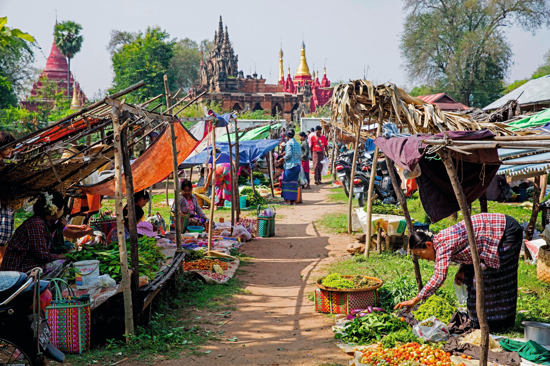 Un marché rural au Birmanie