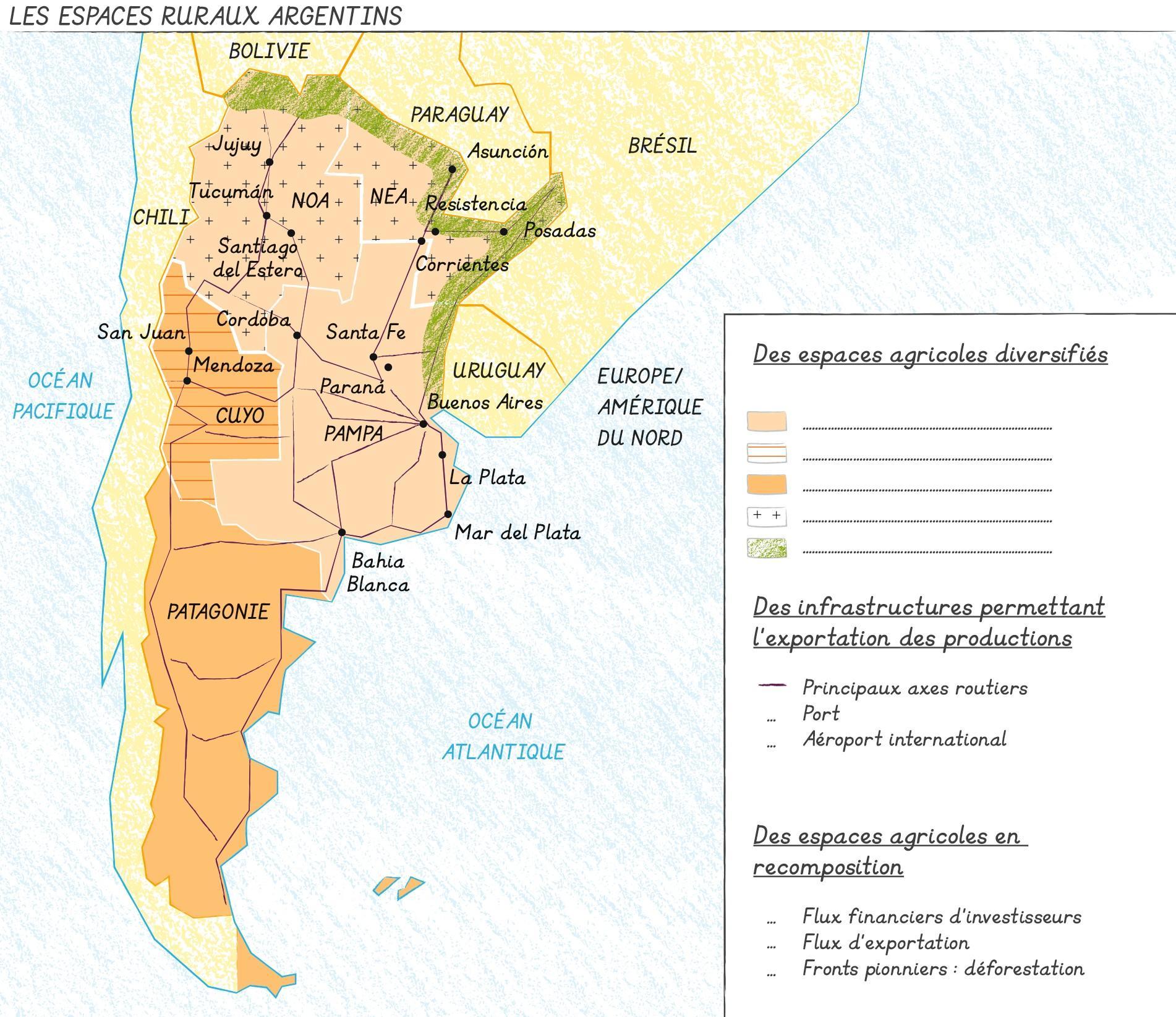 Les espaces ruraux argentins