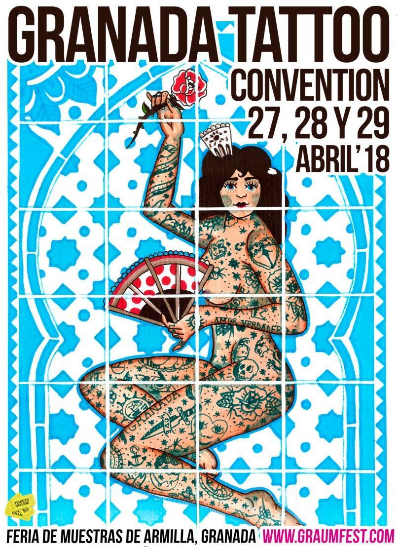 Cartel de la convención de Tatuajes de Granada, 2018.