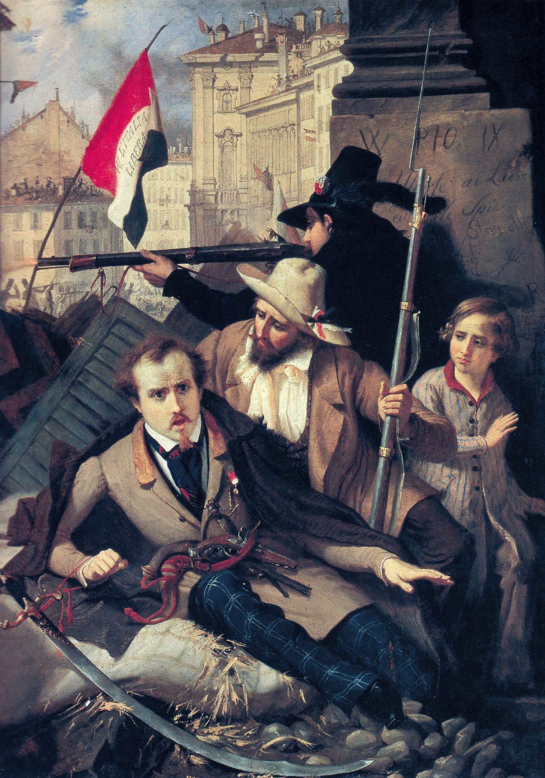 Baldassare Verazzi, Les Cinq Journées de Milan