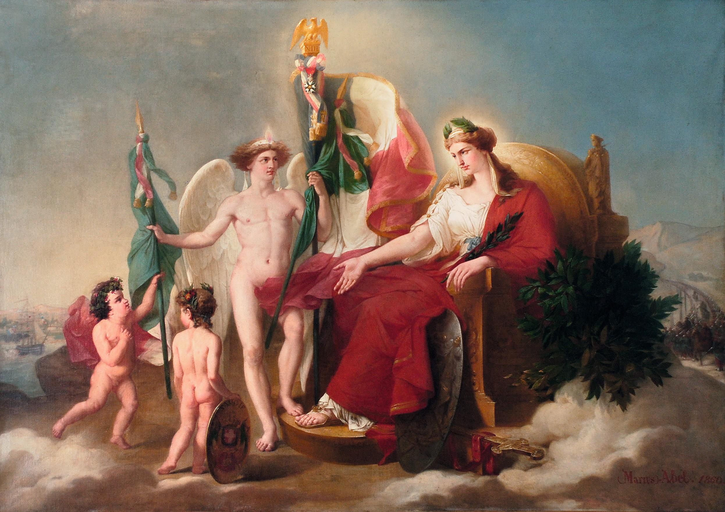 François Barthélemy Marius Abel, Allégorie de la France et de la Savoie