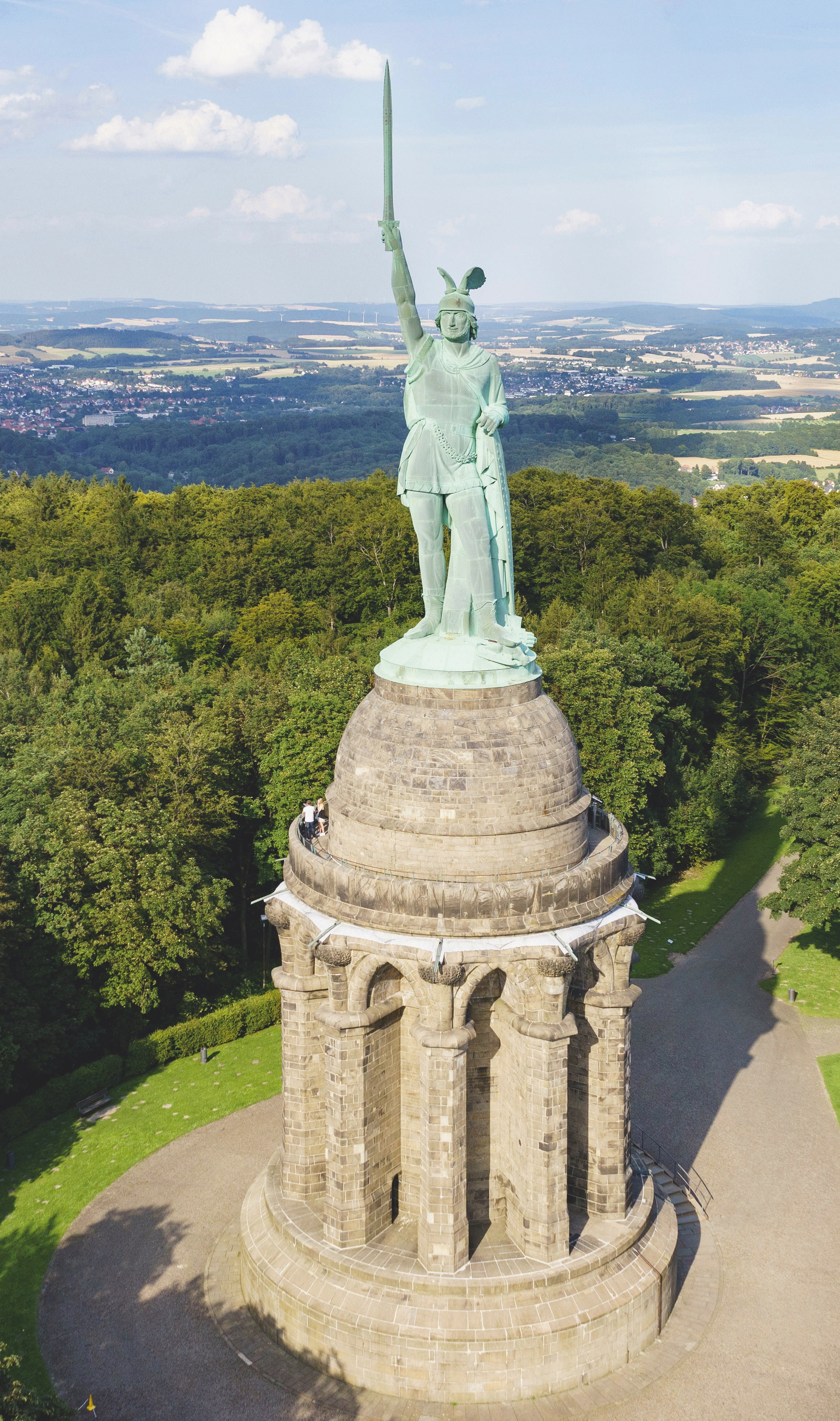 La statue d'Arminius (Hermannsdenkmal)