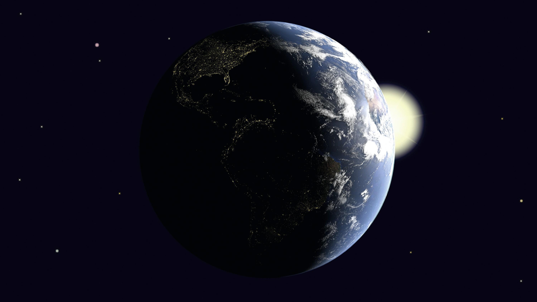 La Terre intercepte une partie du rayonnement solaire