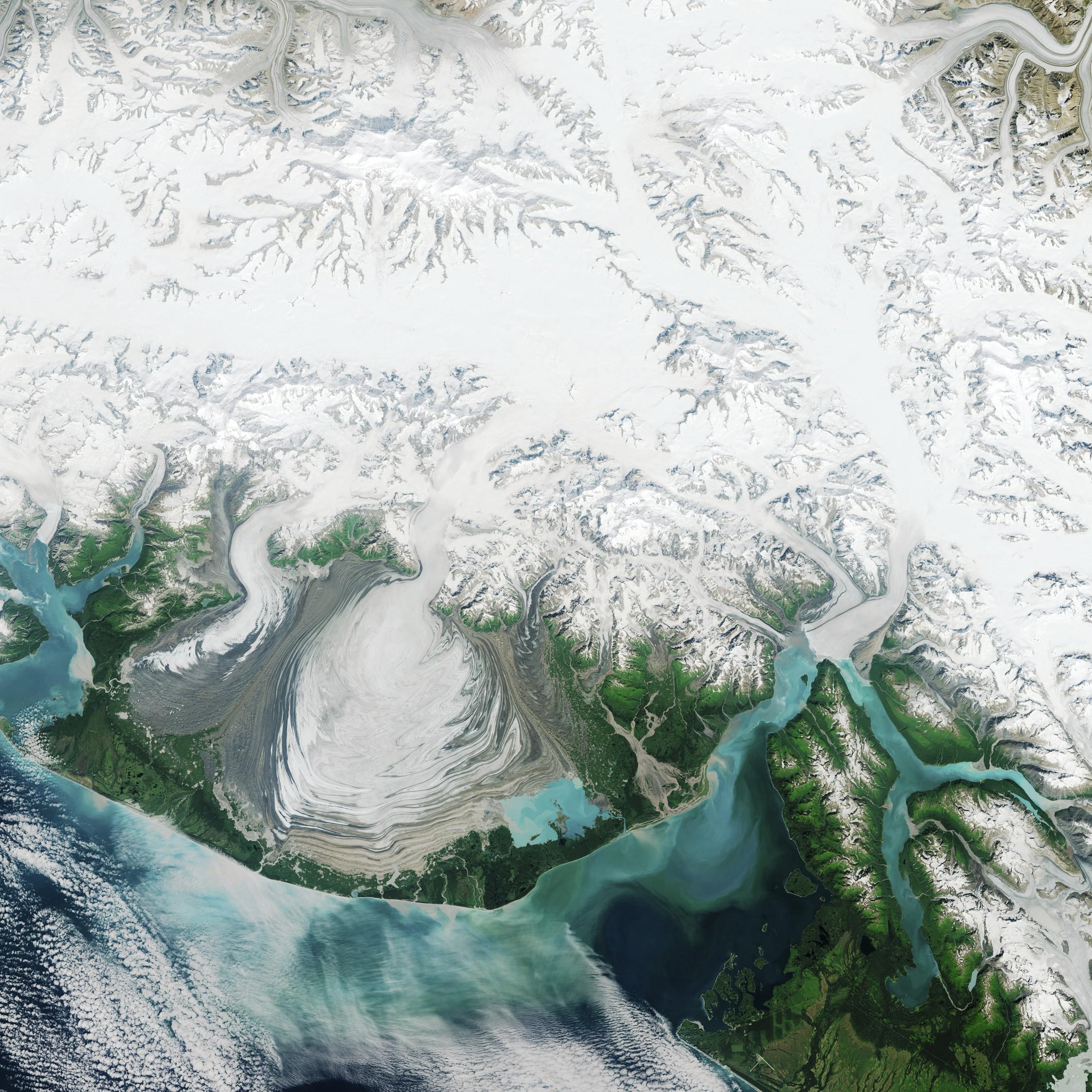 Vue satellitaire de la surface terrestre