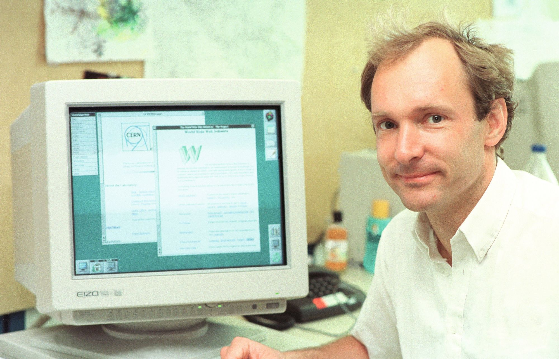 Tim Berners-Lee en 1994.