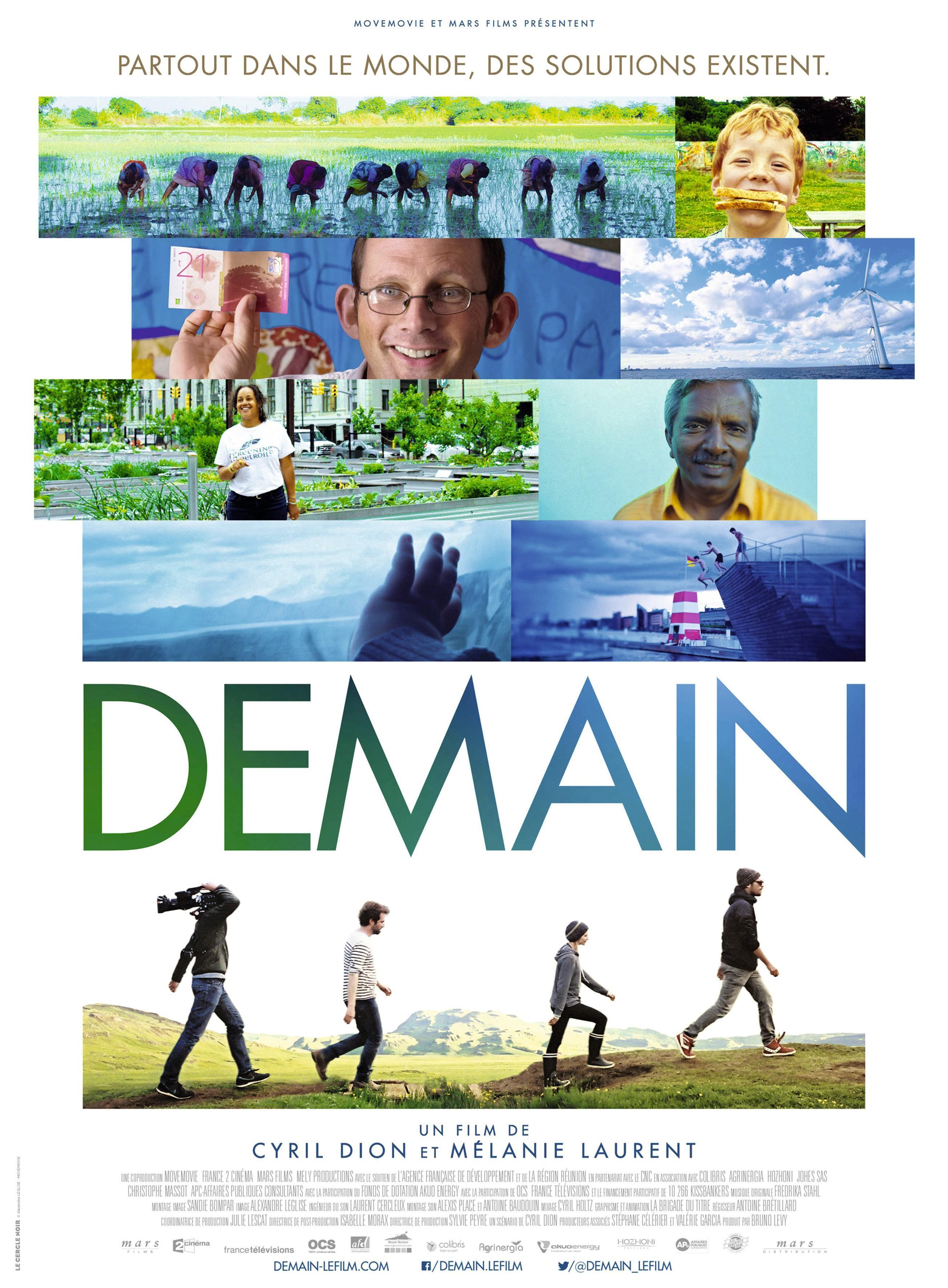 Affiche du film Demain, de Cyril Dion et Mélanie Laurent, 2015
