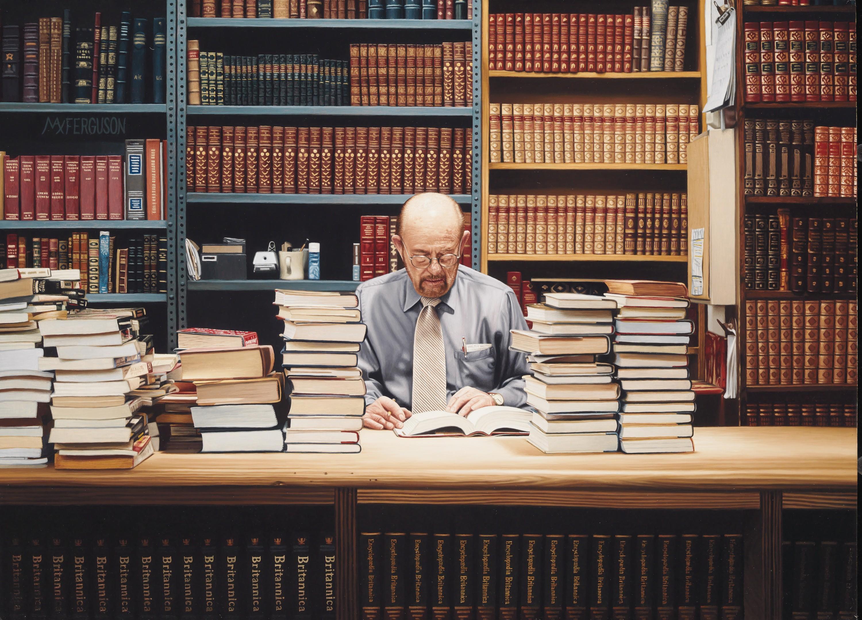 Max Ferguson, Librairie Strand, 2010, huile sur panneau, 40× 55 cm, collection privée.