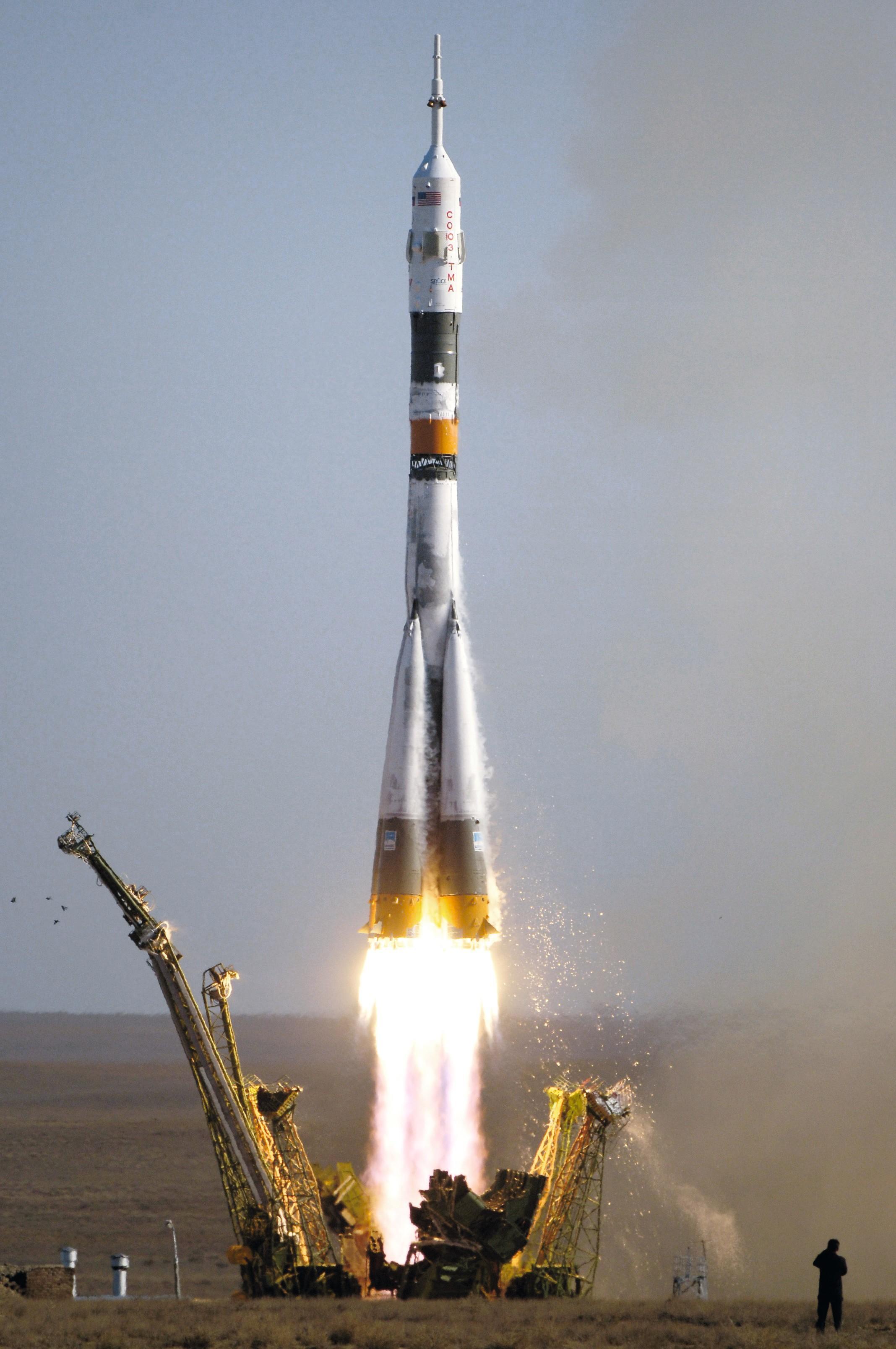 Lancement d'une fusée Soyouz