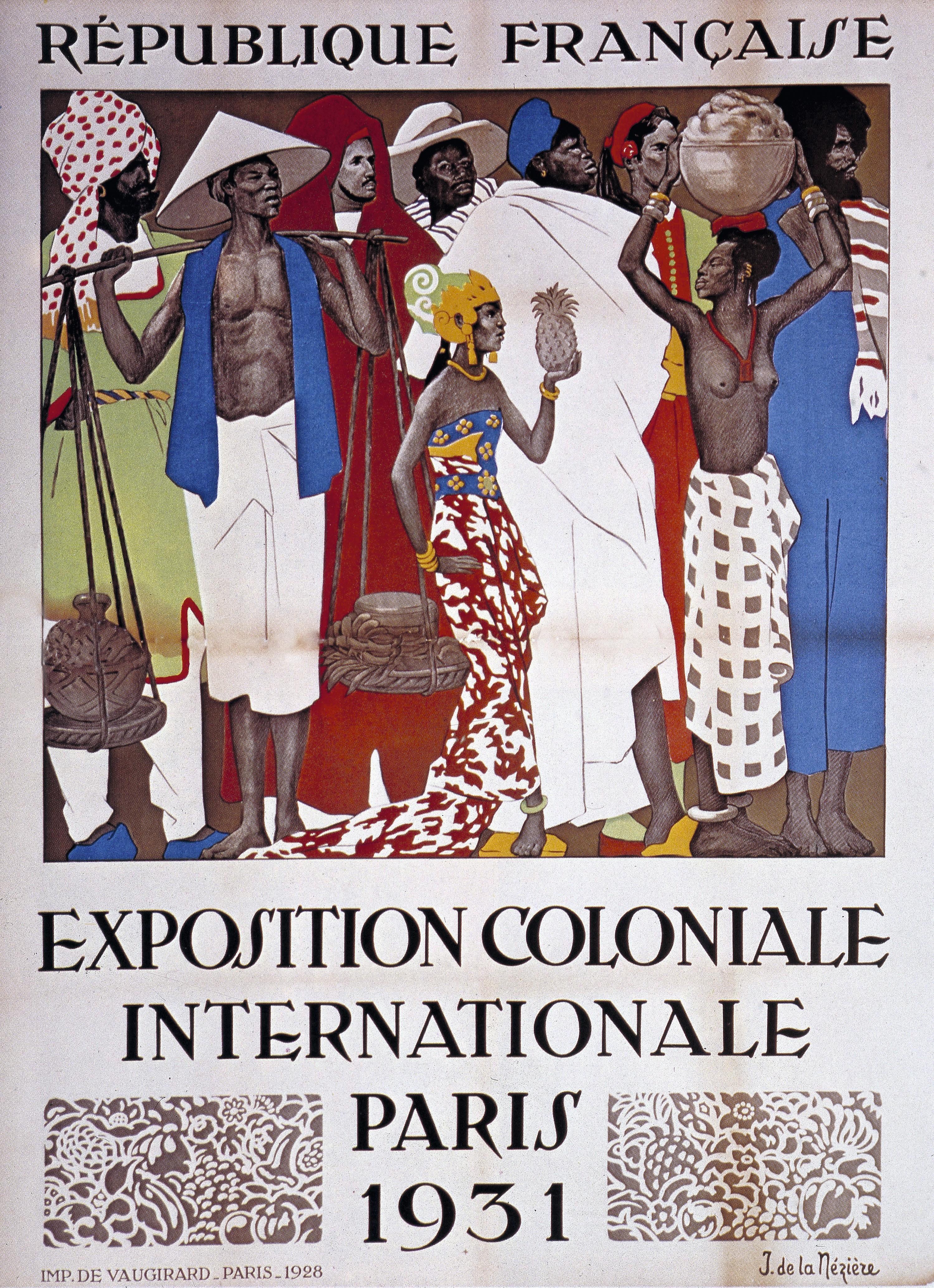 Affiche de l'exposition coloniale de Paris de 1931