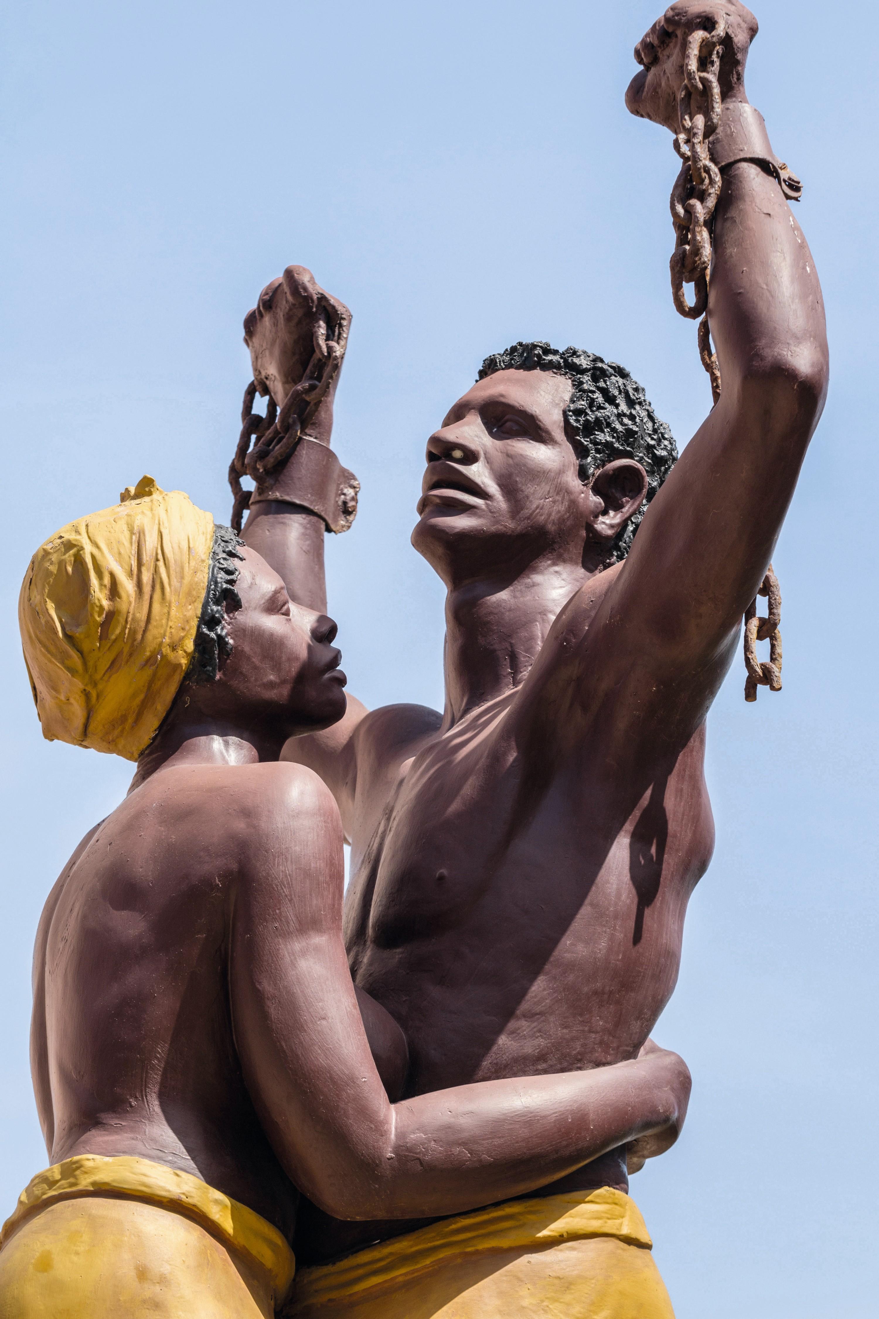 Jean et Christian Moisa, monument en mémoire de l'abolition de l'esclavage, île de Gorée