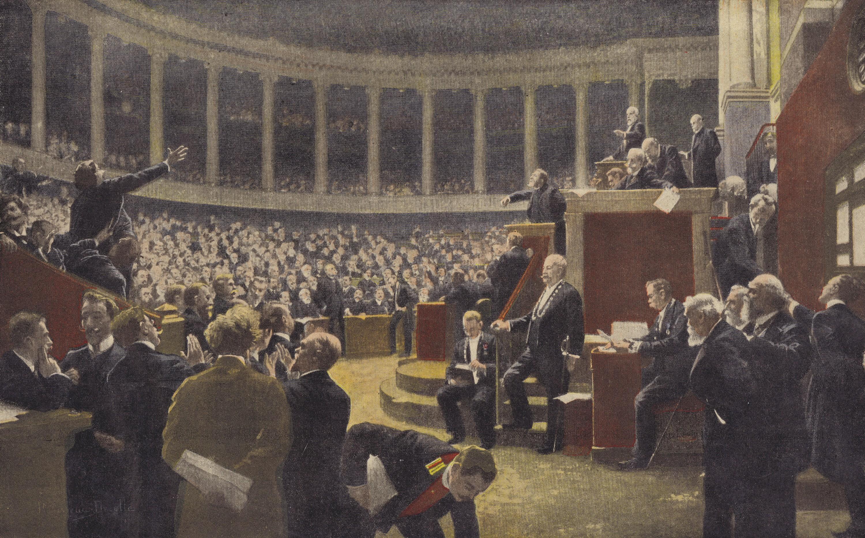 René Achille Rousseau Decelle, Une séance à la Chambre des députés